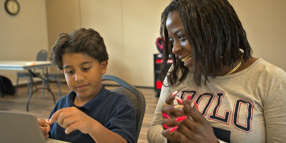 Latoya with student